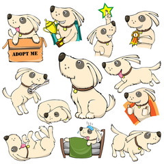 Dog Activities Set Pack Cartoon