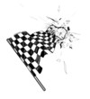 Drawing checkered flag in the dynamic style