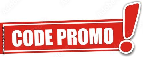 étiquette code promo