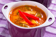 Thai Red Curry soup with chicken breast