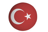 Turkish flag graphic on soccer ball