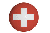 Swiss flag graphic on soccer ball