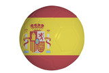 Spanish flag graphic on soccer ball