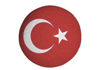 Turkish flag graphic on soccer ball