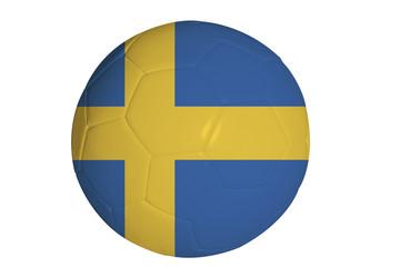 Swedish flag graphic on soccer ball