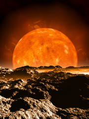 Dying Red Giant Sun