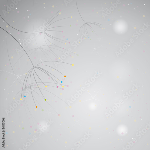 Anise / Black-and-white background with colorful accents