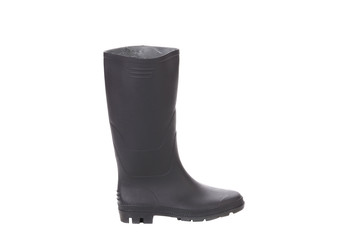 High rubber boot black color.