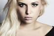 beautiful blond girl with green eyes.beauty woman