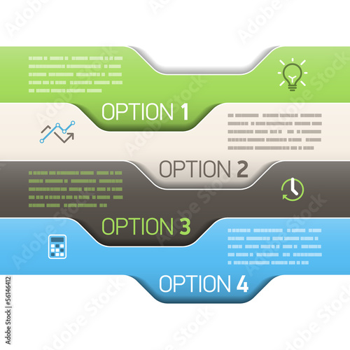 Infographics option design template