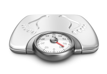 Bathroom weight scales. 3D Icon isolated on white background