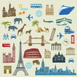 Weltreise, Berühmte internationalen Wahrzeichen
