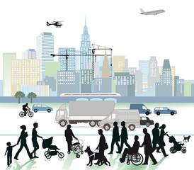 Stadt und Verkehr