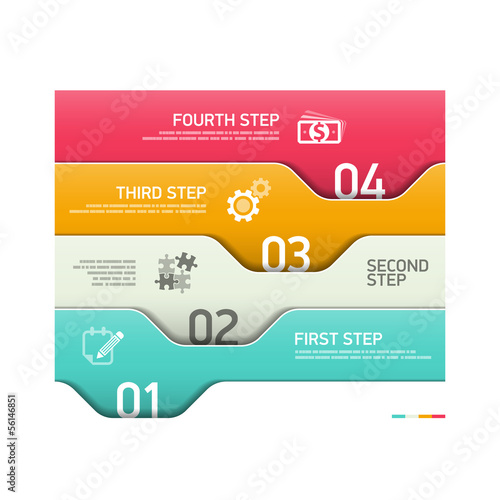 Abstract infographics steps design template
