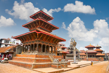 Temples at Durbar Sqaure in Patan, Nepal