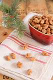 Caramelized almonds and Christmas tree twigs