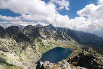 On top of the mountain peak. High Tatras, Slovakia, EU