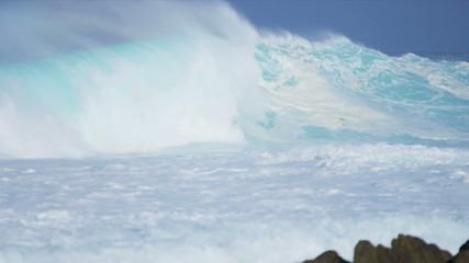 Giant Breaking Ocean Waves Slow Motion