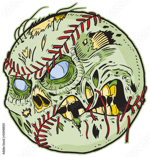 Zombie Baseball Vector Cartoon