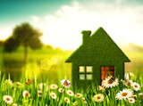 Fototapety Green House. Abstract environmental backgrounds