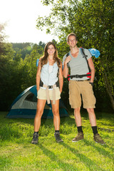 Couple on camping