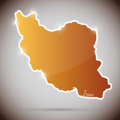 vintage sticker in form of Iran