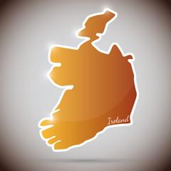 vintage sticker in form of Ireland