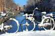 Amsterdam Canal in the Snow