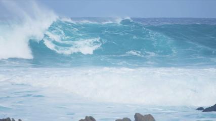 Slow Motion Giant Breaking Ocean Waves