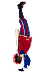 Zwarte Piet is doing a handstand