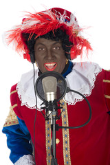 Zwarte Piet is singing