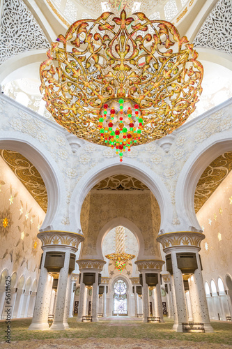Abu Dhabi Sheikh Zayed Grand Mosque, beautiful interior
