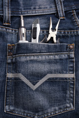 Work tools with jeans