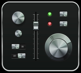 Hi-End UI Analog Volume Equalizer, Level Mixer