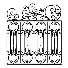 Gate a fence a lattice the house a vector
