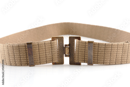 woven cotton belt on white background