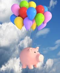 Sparschwein im Himmel