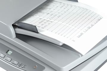 Scanner With Document