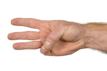 Fingerzeichen drei