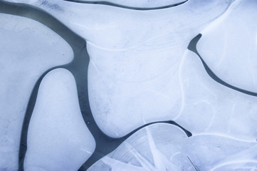 abstract ice shapes and lines background