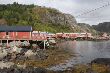 Fishing village of Nusfjord, on the Lofoten Islands, Norway