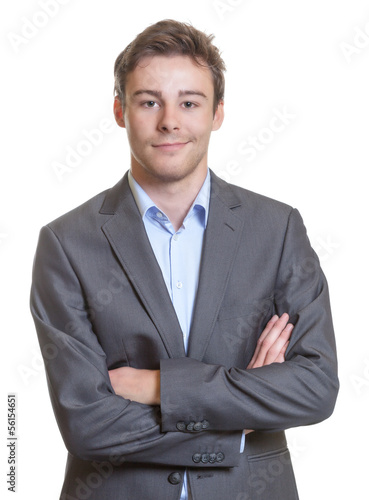 Smart businessman in a grey suit