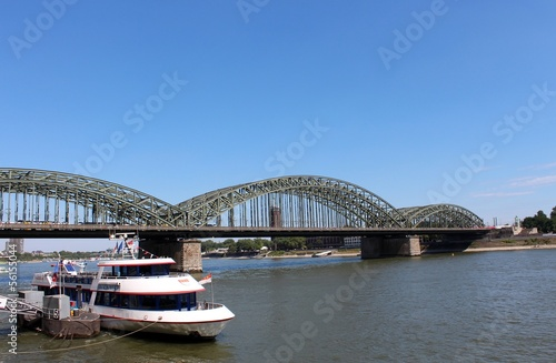 View of Hohenzollern Bridge in Cologne