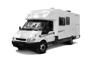 camping car détouré fond blanc