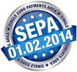 "Button Banner ""SEPA"" blue/silver"