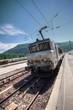 train en gare - bourg saint maurice
