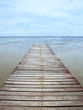 Wooden jetty during low tide