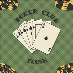 Seamless background with poker cards for