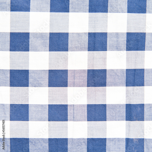 Blue checkered pattern texture. Abstract background