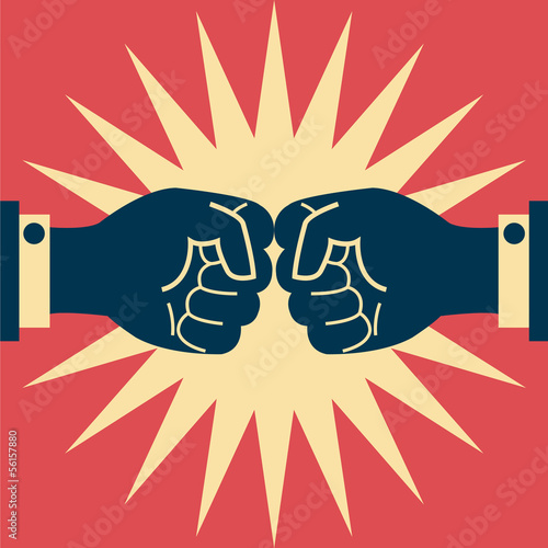 Business fighting abstract background